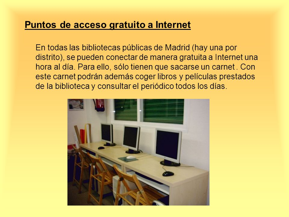 Puntos de acceso gratuito a Internet