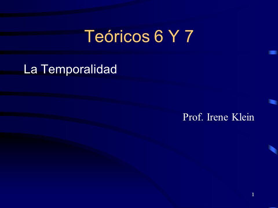 Teóricos 6 Y 7 La Temporalidad Prof. Irene Klein