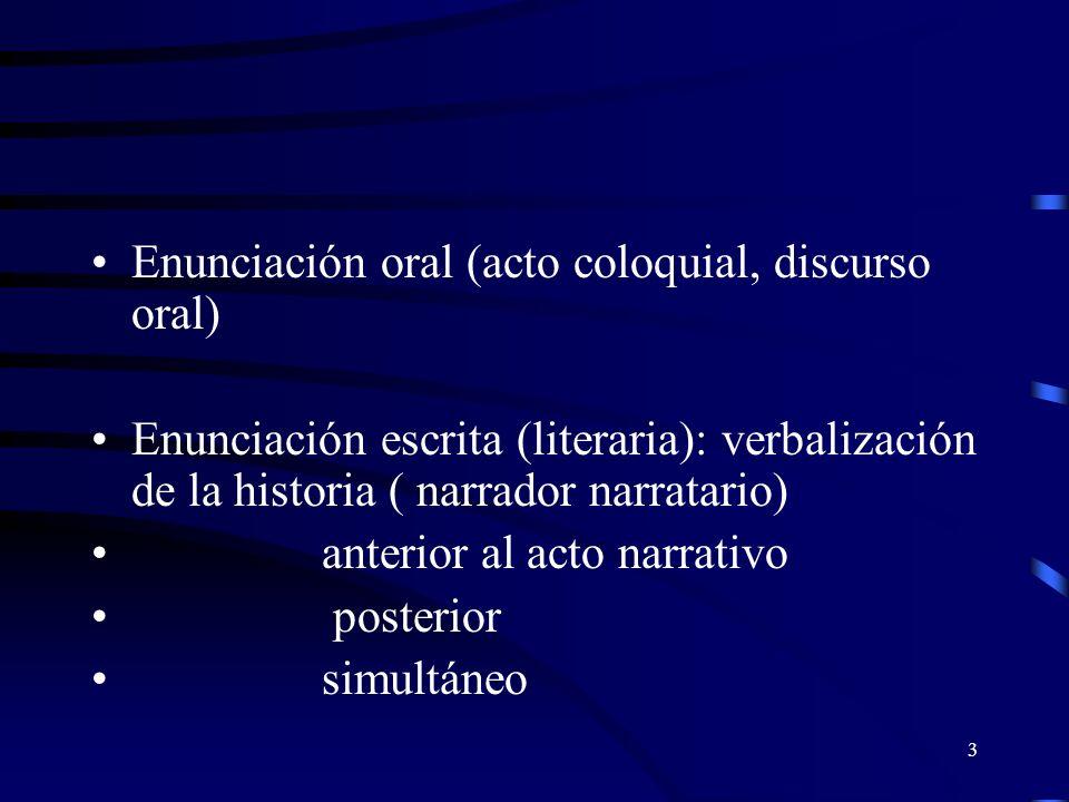 Enunciación oral (acto coloquial, discurso oral)