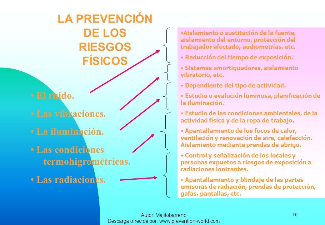 LA PREVENCIÓN DE LOS RIESGOS FÍSICOS