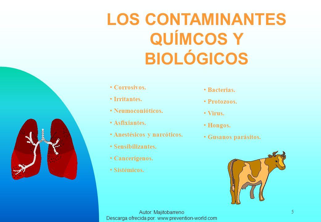 LOS CONTAMINANTES QUÍMCOS Y BIOLÓGICOS