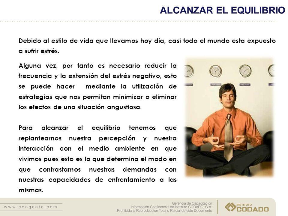 ALCANZAR EL EQUILIBRIO