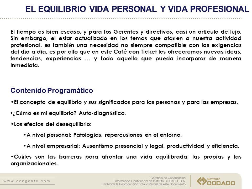 EL EQUILIBRIO VIDA PERSONAL Y VIDA PROFESIONAL