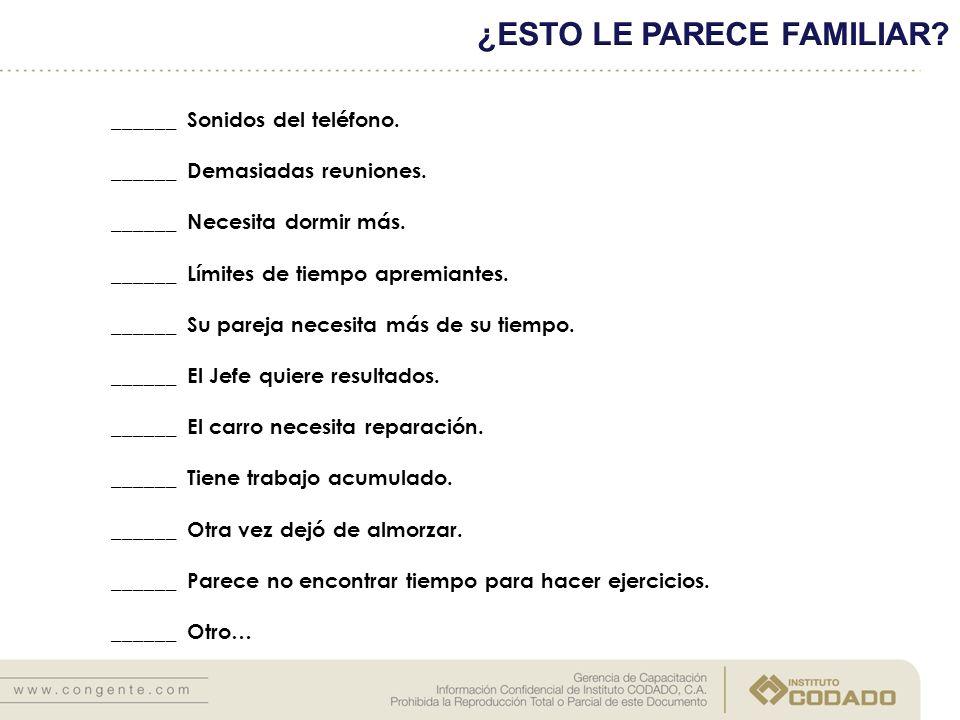 ¿ESTO LE PARECE FAMILIAR