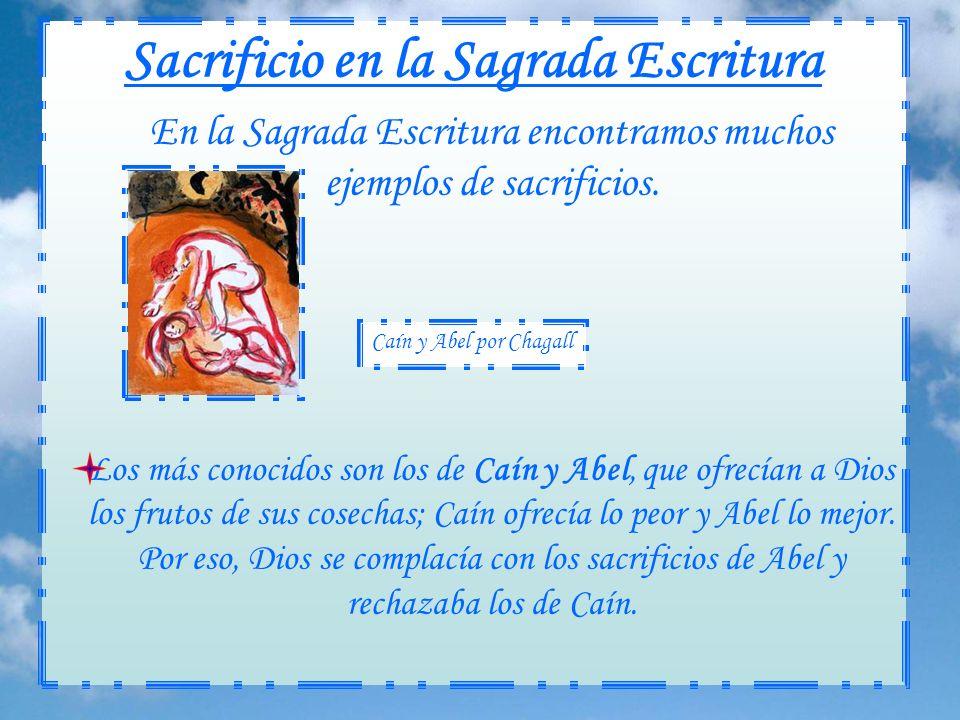 Sacrificio en la Sagrada Escritura