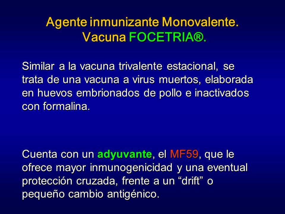 Agente inmunizante Monovalente. Vacuna FOCETRIA®.