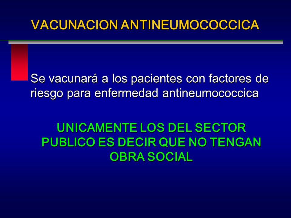 VACUNACION ANTINEUMOCOCCICA