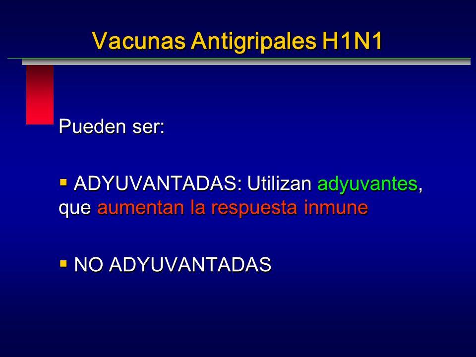 Vacunas Antigripales H1N1