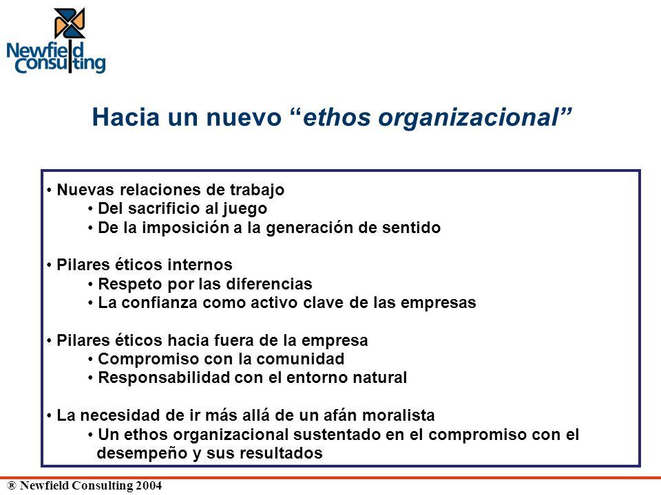 Hacia un nuevo ethos organizacional
