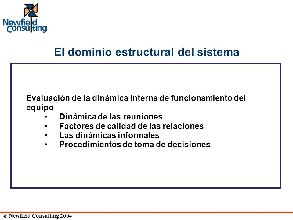 El dominio estructural del sistema