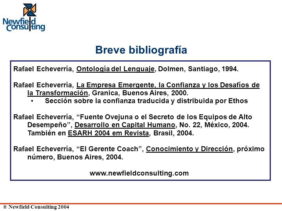 Breve bibliografía Rafael Echeverría, Ontología del Lenguaje, Dolmen, Santiago, 1994.