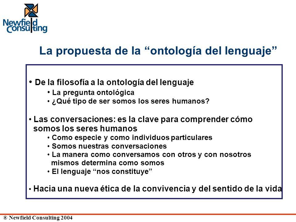 La propuesta de la ontología del lenguaje