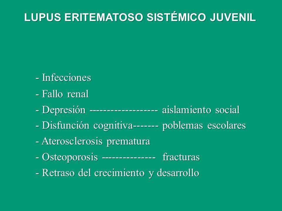 - Infecciones LUPUS ERITEMATOSO SISTÉMICO JUVENIL - Fallo renal