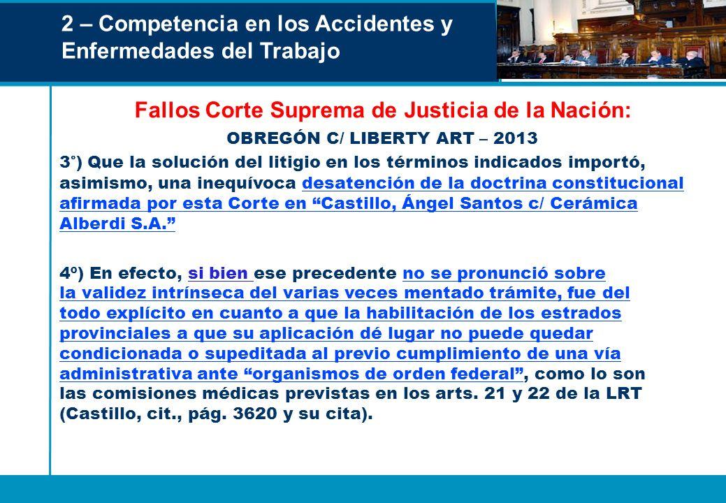 Fallos Corte Suprema de Justicia de la Nación: