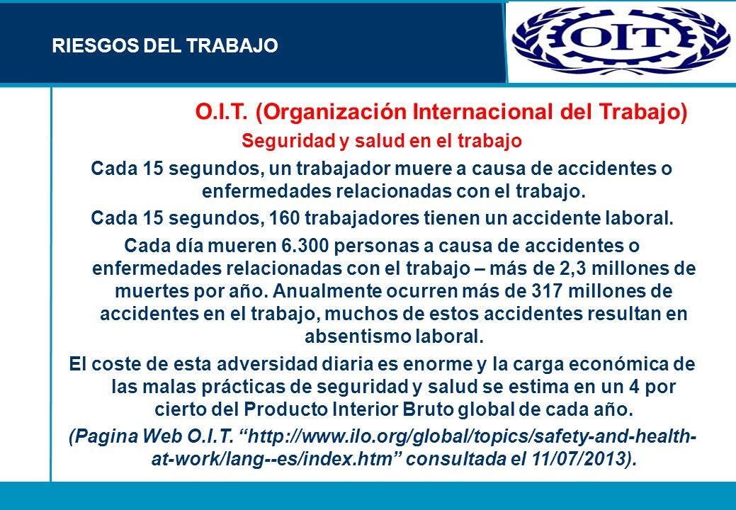 O.I.T. (Organización Internacional del Trabajo)