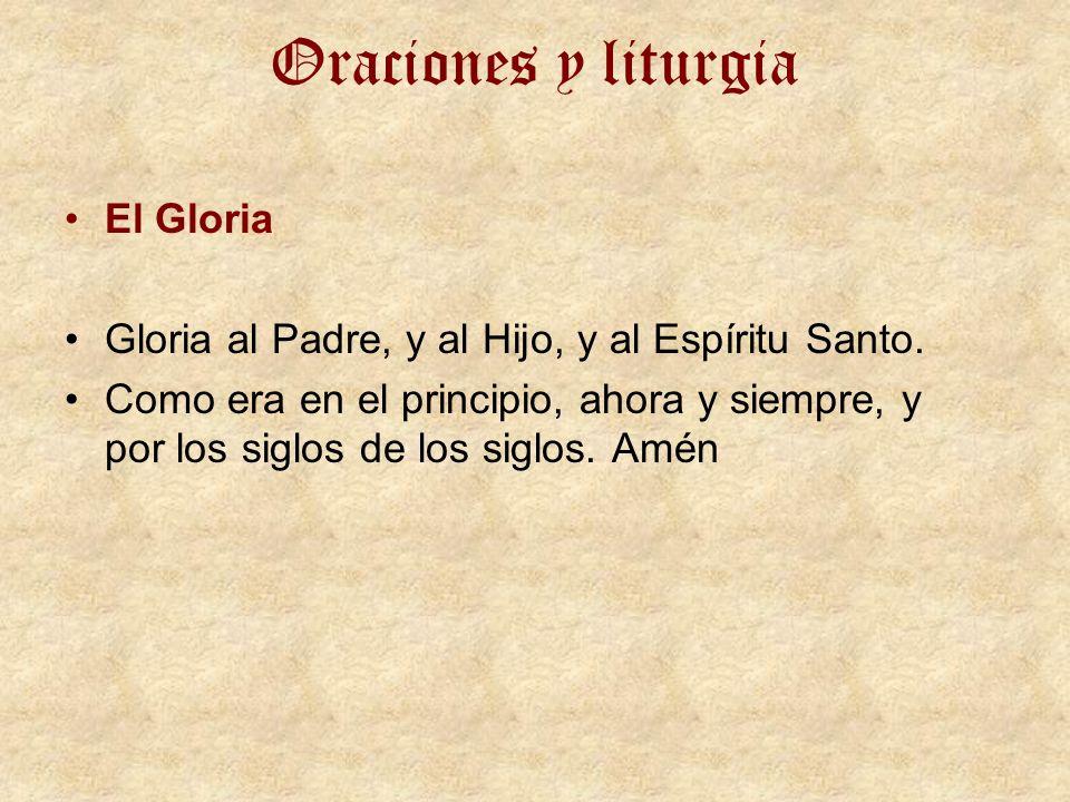 Oraciones y liturgia El Gloria
