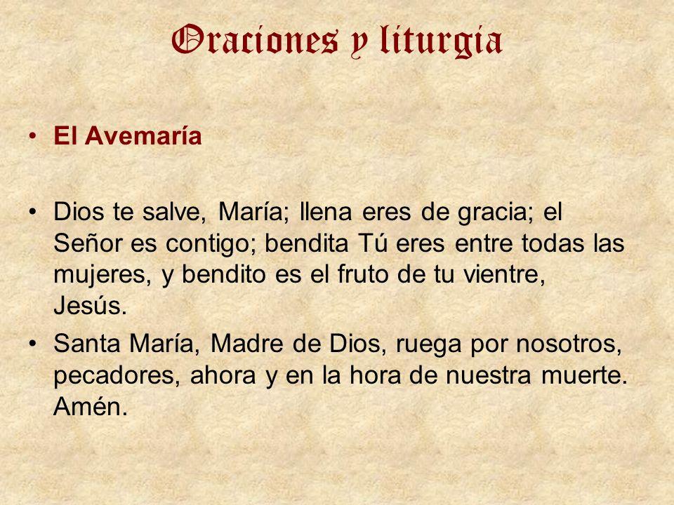 Oraciones y liturgia El Avemaría