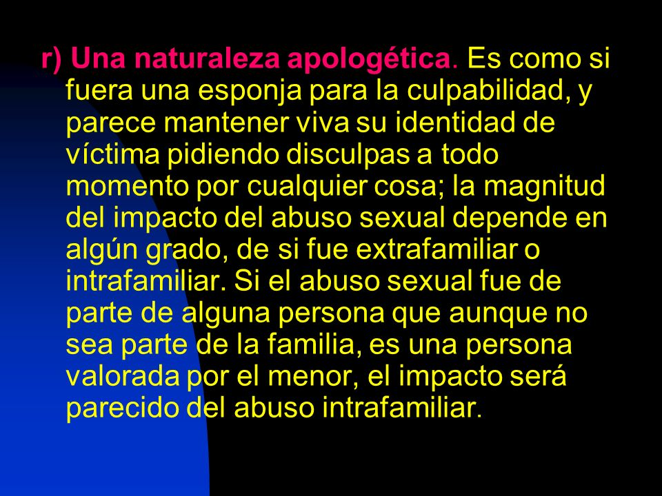 r) Una naturaleza apologética