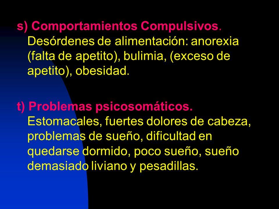 s) Comportamientos Compulsivos