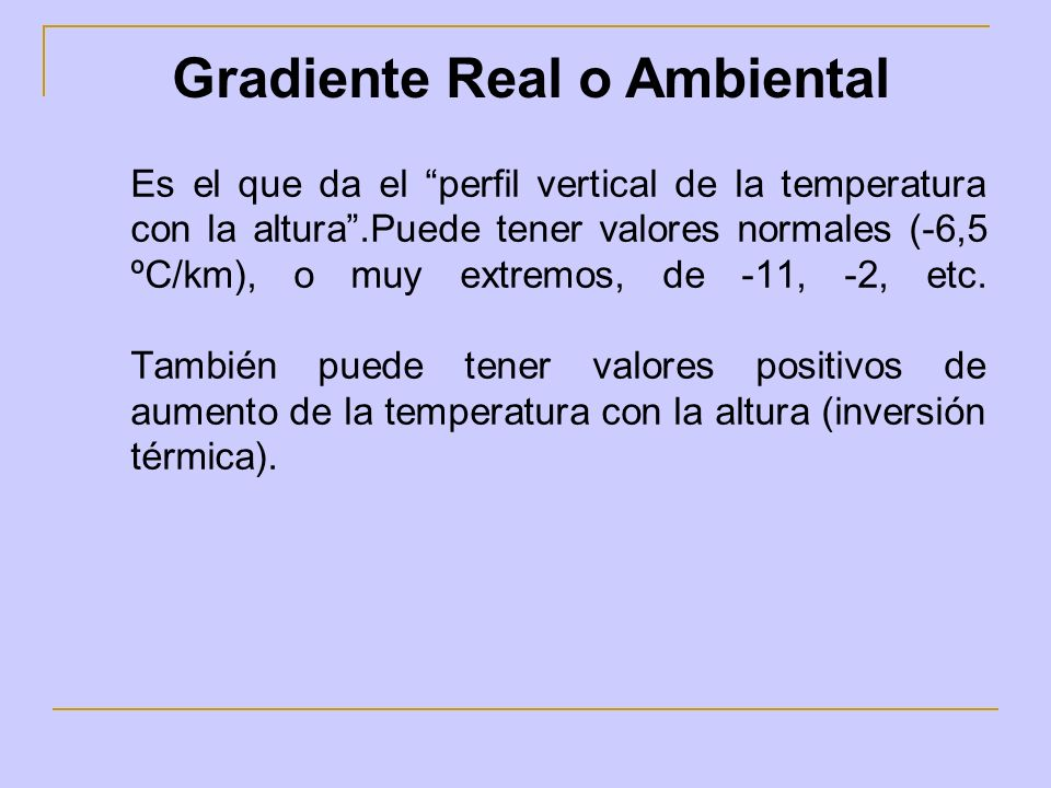 Gradiente Real o Ambiental