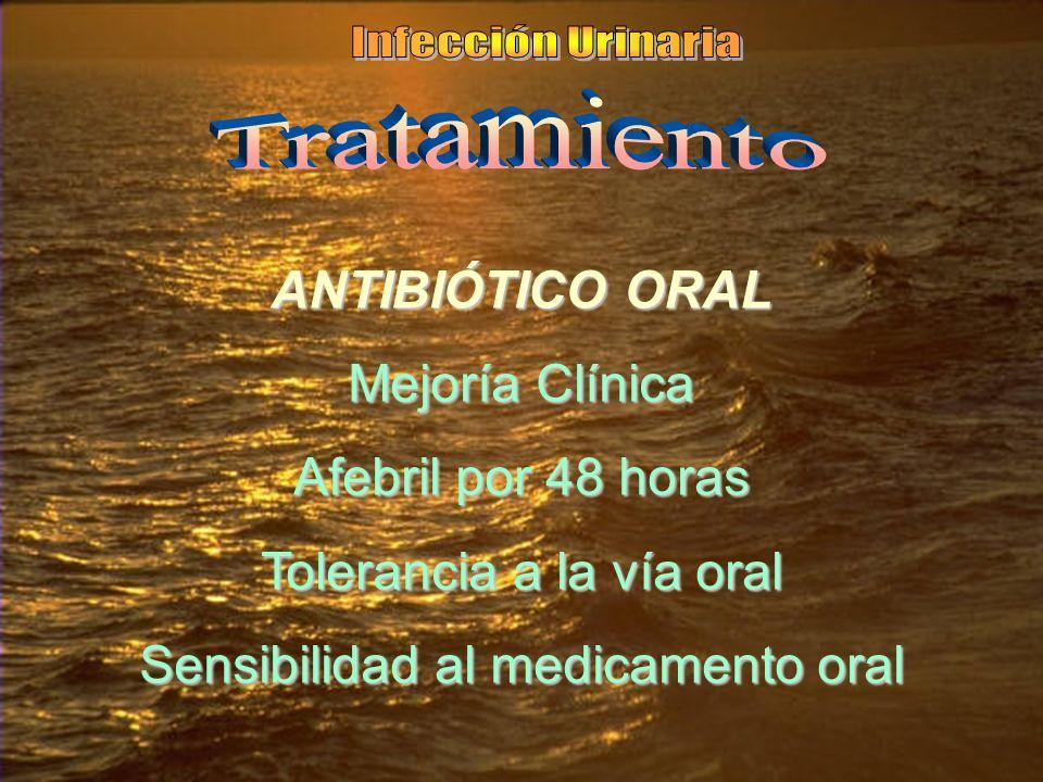 Tolerancia a la vía oral Sensibilidad al medicamento oral
