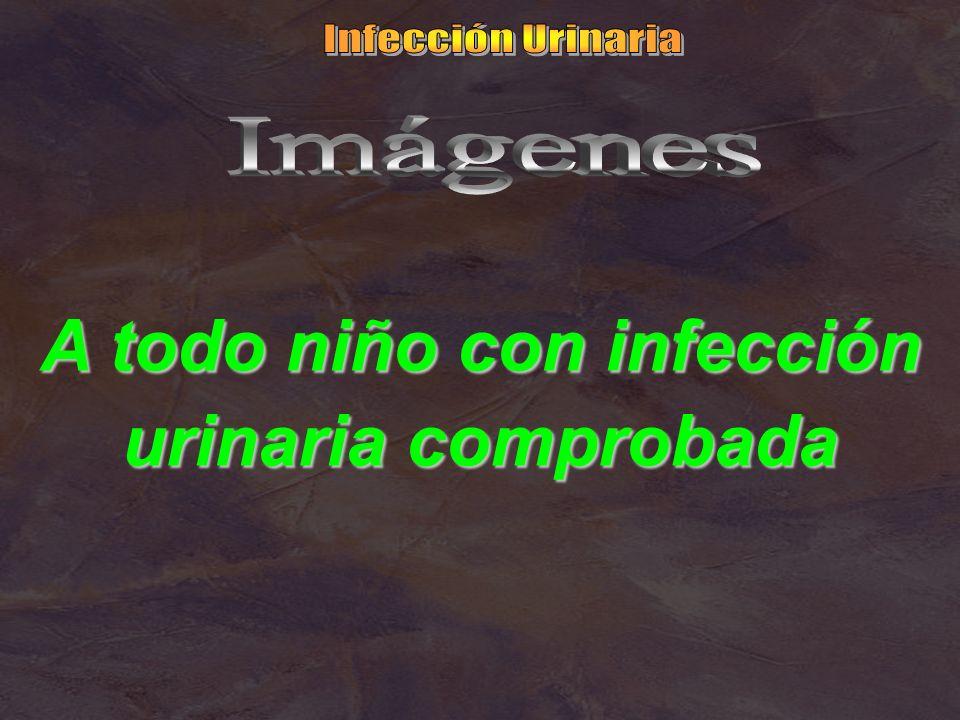 A todo niño con infección urinaria comprobada