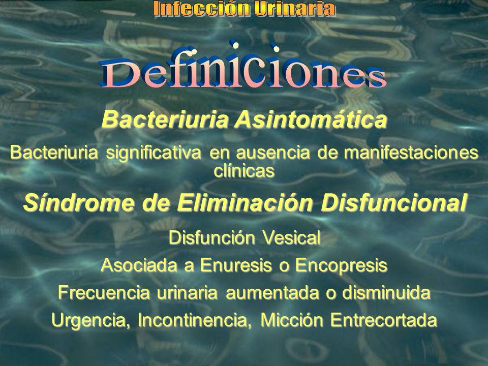 Bacteriuria Asintomática Síndrome de Eliminación Disfuncional