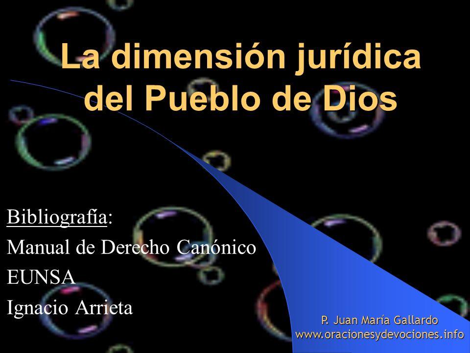 La dimensión jurídica del Pueblo de Dios
