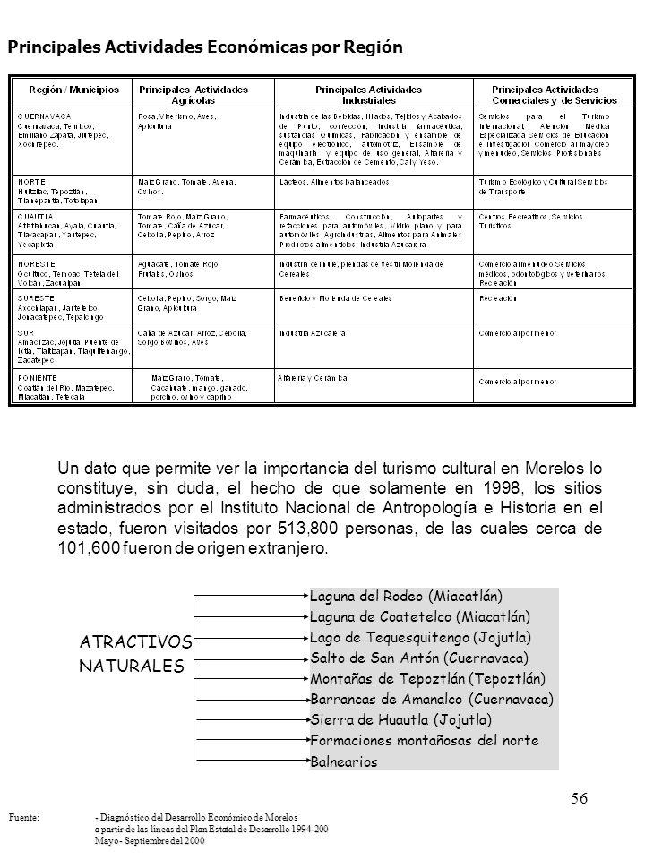 Principales Actividades Económicas por Región