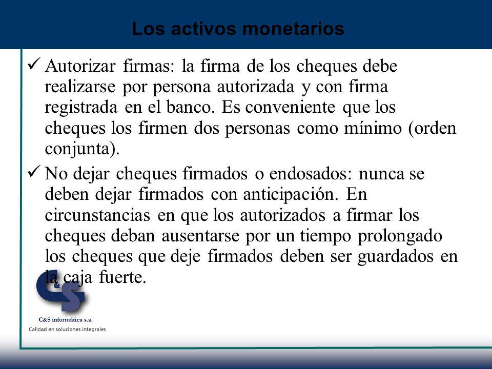 Los activos monetarios