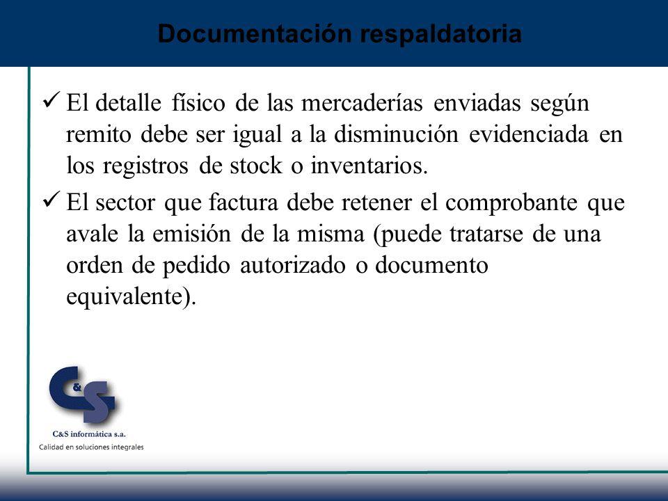Documentación respaldatoria