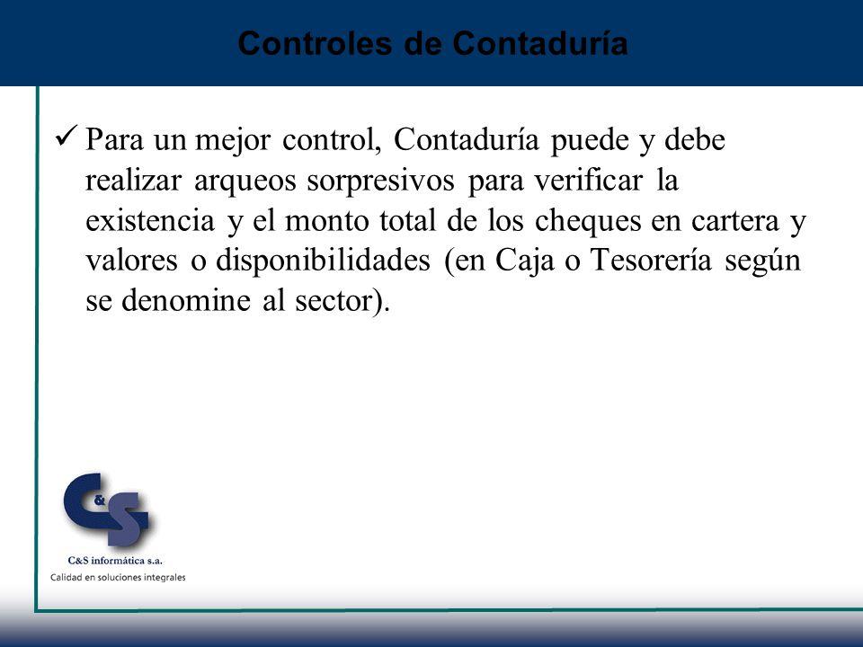 Controles de Contaduría