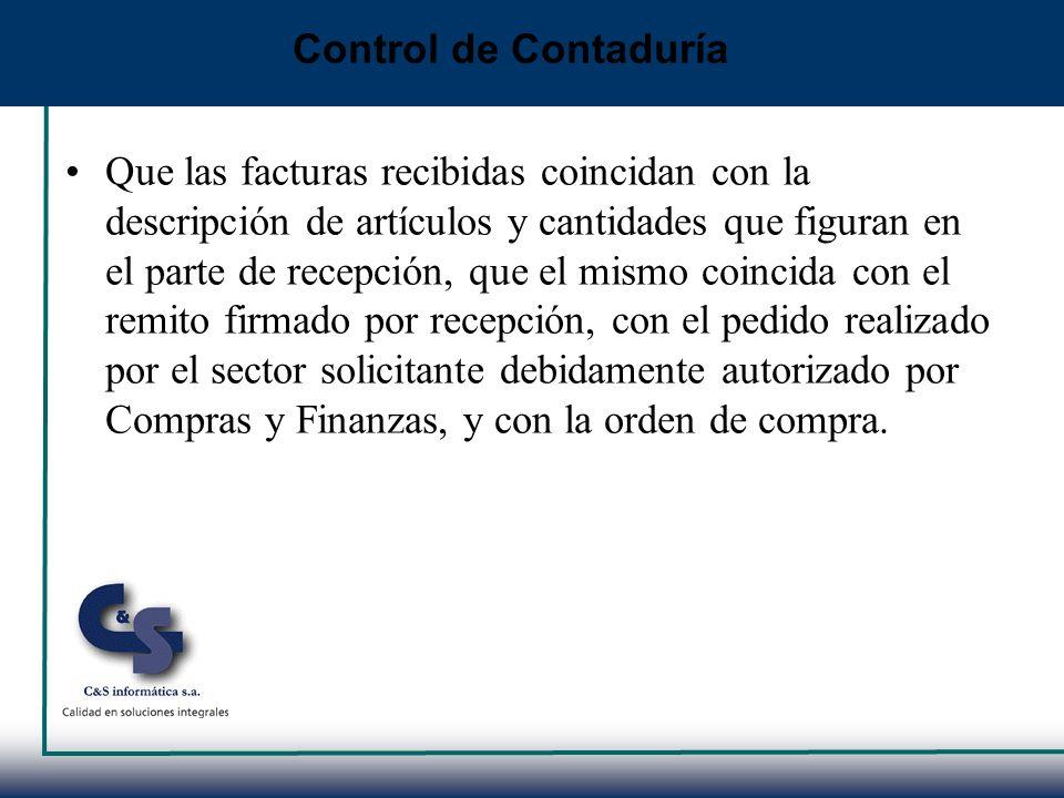 Control de Contaduría