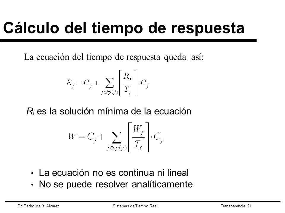 Cálculo del tiempo de respuesta