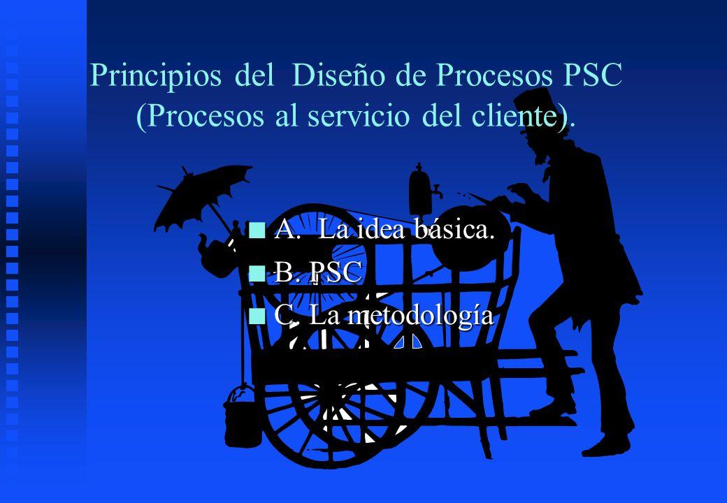 Principios del Diseño de Procesos PSC (Procesos al servicio del cliente).