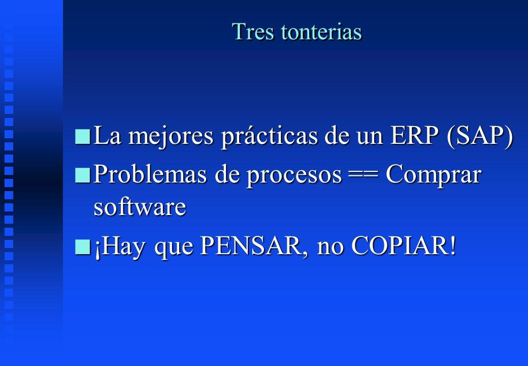 La mejores prácticas de un ERP (SAP)