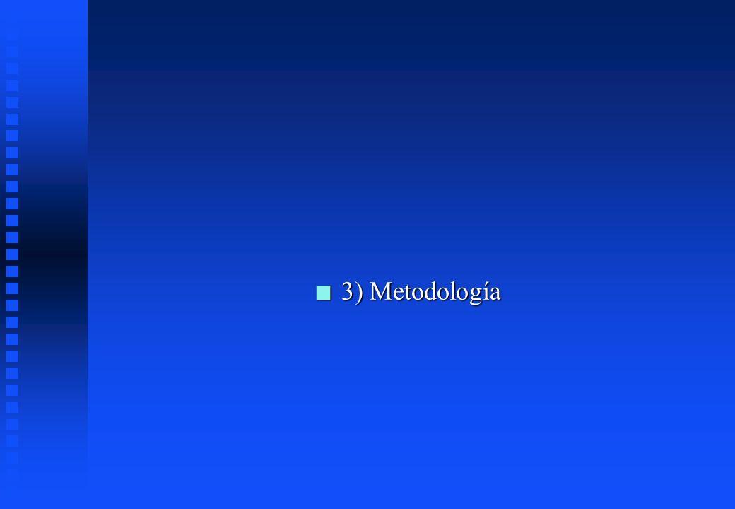 3) Metodología