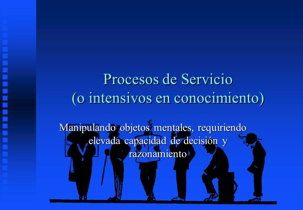 Procesos de Servicio (o intensivos en conocimiento)