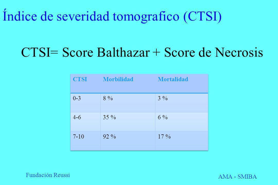Índice de severidad tomografico (CTSI)