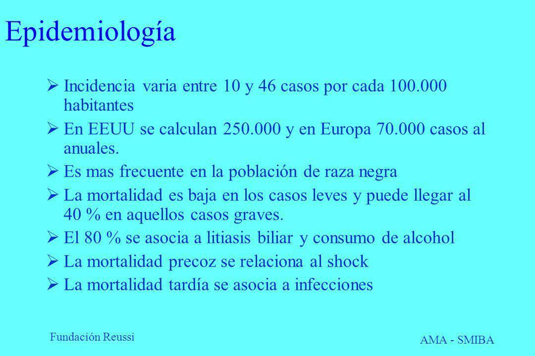 Epidemiología Incidencia varia entre 10 y 46 casos por cada 100.000 habitantes. En EEUU se calculan 250.000 y en Europa 70.000 casos al anuales.