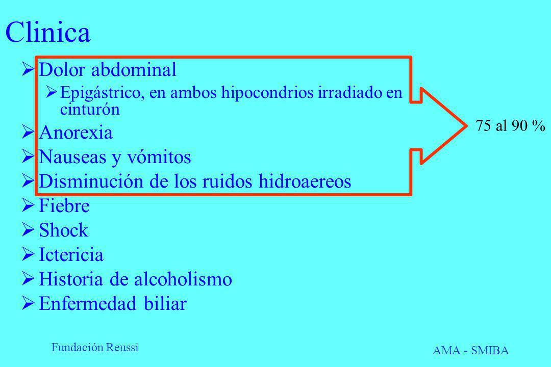Clinica Dolor abdominal Anorexia Nauseas y vómitos