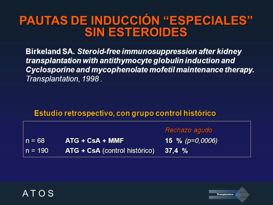 PAUTAS DE INDUCCIÓN ESPECIALES