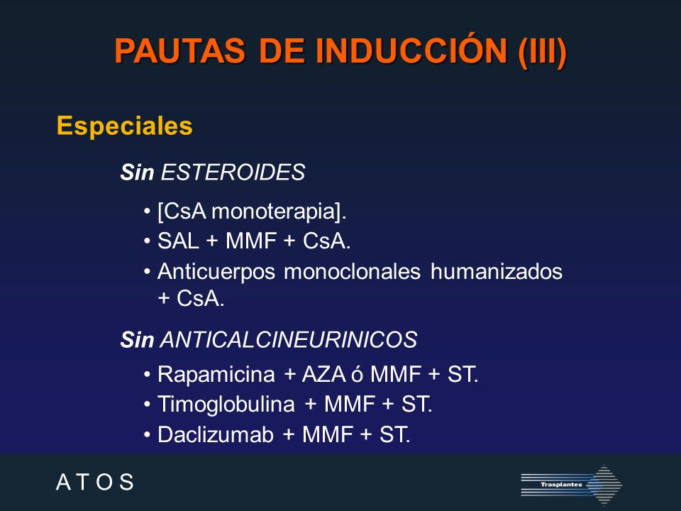 PAUTAS DE INDUCCIÓN (III)