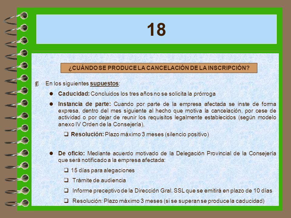 ¿CUÁNDO SE PRODUCE LA CANCELACIÓN DE LA INSCRIPCIÓN