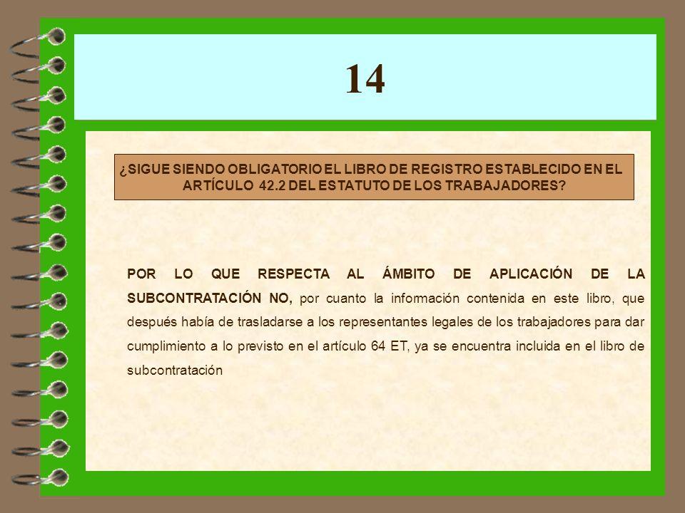 14 ANTES EXISTÍAN 3 LIBROS: