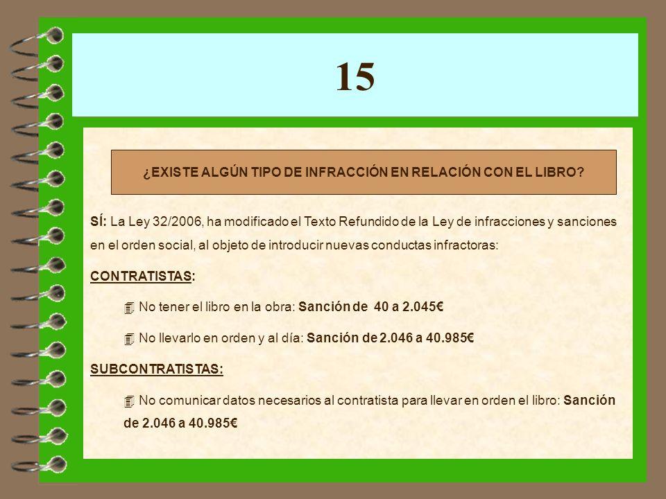 ¿EXISTE ALGÚN TIPO DE INFRACCIÓN EN RELACIÓN CON EL LIBRO