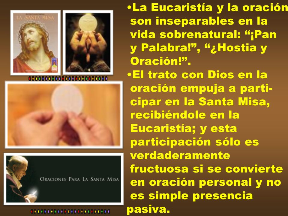 La Eucaristía y la oración