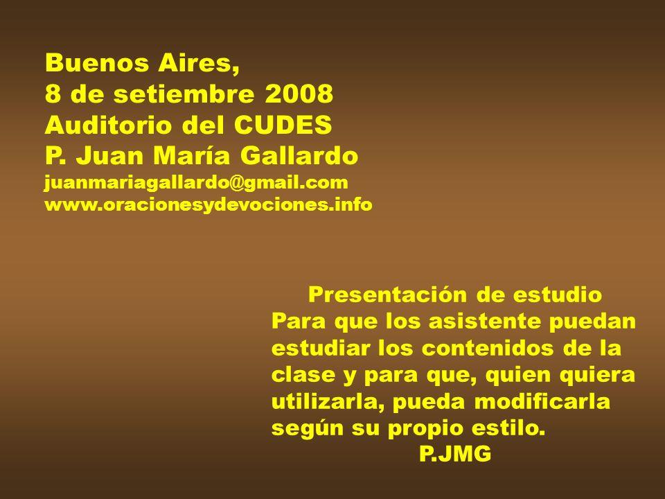 Buenos Aires, 8 de setiembre 2008 Auditorio del CUDES