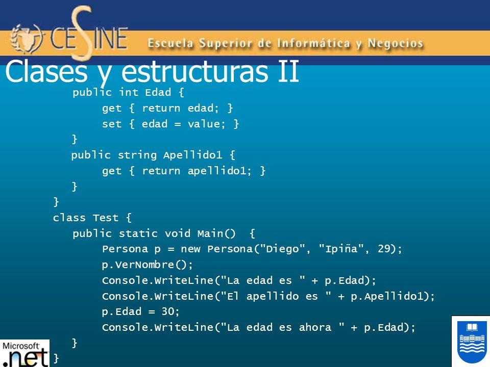 Clases y estructuras II