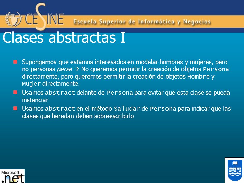 Clases abstractas I